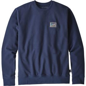 Patagonia Shop Sticker Patch Uprisal Crew Sweat-shirt manches longues à col ras-du-cou Homme, classic navy